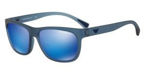Emporio Armani EA4081 553525 GREEN MIRROR LIGHT BLUEMATTE TRANSPARENT BLUE
