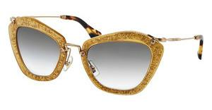 Miu Miu MU 10NS TKD0A7 GREY GRADIENTDARK YELLOW/SILVER