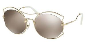Miu Miu MU 50SS ZVN1C0 LIGHT BROWN MIRROR GOLDPALE GOLD