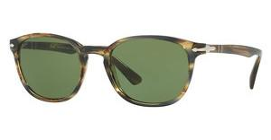 Persol PO3148S 90424E GREENSTRIPED BROWN GREY