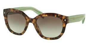 Prada PR 12SS UEZ4K1 GREEN GRADIENT GREYSPOTTED BROWN GREEN