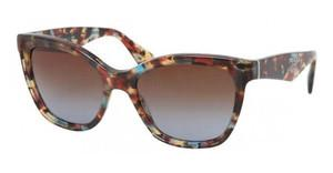Prada PR 20PS NAG0A4 BROWN GRADIENTHAVANA SPOTTED BLUE