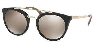 Prada PR 23SS 1AB1C0 LIGHT BROWN MIRROR GOLDBLACK