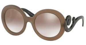 Prada PR 27NS UBU4O0 GRADIENT BROWN MIRROR SILVERDARK BROWN MAT TRASP