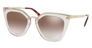 Prada PR 53SS VYT4O0 GRADIENT BROWN MIRROR SILVERTRANSPARENT BROWN