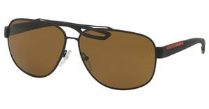 Prada Sport PS 58QS DG05Y1 POLAR BROWNBLACK RUBBER