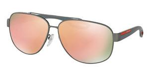 Prada Sport PS 58QS DG16Q2 BROWN MIRROR ORANGEGUNMETAL RUBBER