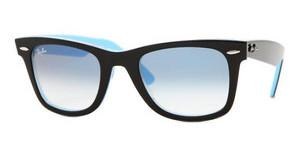 Ray-Ban RB2140 10013F TOP BLACK ON TRANSP. AZU CRYSTAL GRADIENT LIGHT BLUE
