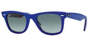 Ray-Ban RB2140 113471 CRYSTAL GREY GRADIENTTOP BLUE ON TEXTURE PLAID