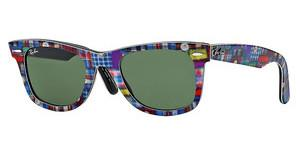 Ray-Ban RB2140 1135 GREENTOP TEXTURE PLAID ON BLACK