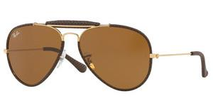 Ray-Ban RB3422Q 9041 BROWNLEATHER BROWN