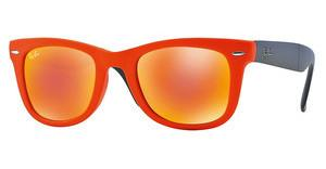 Ray-Ban RB4105 601969 CRYSTAL BROWN MIRROR ORANGEMATTE ORANGE