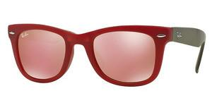 Ray-Ban RB4105 6050Z2 BROWN MIRROR PINKMATTE RED