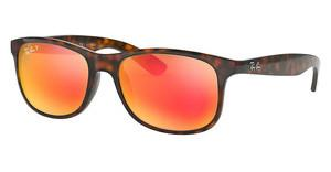 Ray-Ban RB4202 710/6S DARK BROWN MIRROR ORANGE POLARSHINY HAVANA