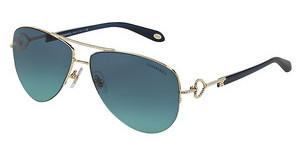 Tiffany TF3046 60949S BLUE GRADIENTPALE GOLD