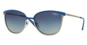 Vogue VO4002S 50254L LIGHT GREY GRADIENT DARK BLUEBLUE/MATTE BRUSHED SILVER