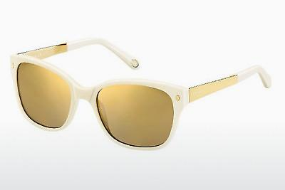 Lunettes de soleil Fossil FOS 2012/S KL2/VP - Blanches, Or