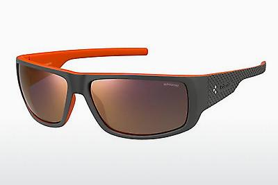 Lunettes de soleil Polaroid Sports PLD 7006/S VUR/OZ - Grises, Orange