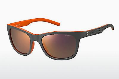 Lunettes de soleil Polaroid Sports PLD 7008/S VUR/OZ - Grises, Orange