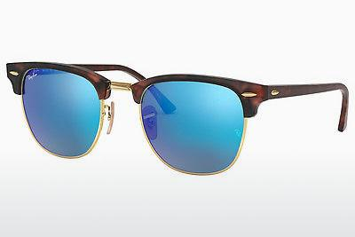 Lunettes de soleil Ray-Ban CLUBMASTER (RB3016 114517) - Sand, Brunes, Havanna, Or
