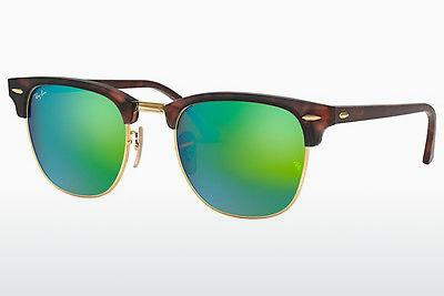 Lunettes de soleil Ray-Ban CLUBMASTER (RB3016 114519) - Sand, Brunes, Havanna, Or