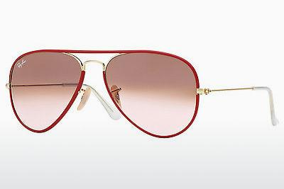 Lunettes de soleil Ray-Ban AVIATOR FULL COLOR (RB3025JM 001/X3) - Or, Rouges