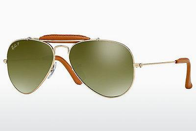 Lunettes de soleil Ray-Ban AVIATOR CRAFT (RB3422Q 001/M9) - Or, Brunes