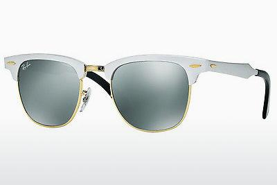 Lunettes de soleil Ray-Ban CLUBMASTER ALUMINUM (RB3507 137/40) - Blanches