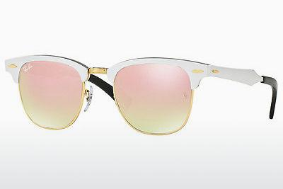 Lunettes de soleil Ray-Ban CLUBMASTER ALUMINUM (RB3507 137/7O) - Blanches