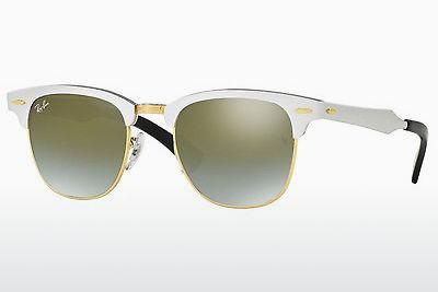 Lunettes de soleil Ray-Ban CLUBMASTER ALUMINUM (RB3507 137/9J) - Blanches
