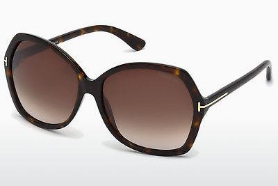Lunettes de soleil Tom Ford Carola (FT0328 52F) - Brunes, Havanna
