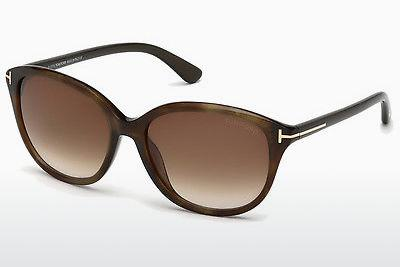 Lunettes de soleil Tom Ford Karmen (FT0329 50P) - Brunes, Dark