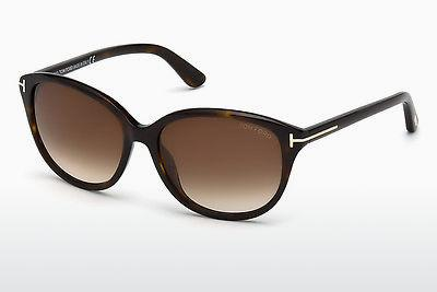 Lunettes de soleil Tom Ford Karmen (FT0329 52F) - Brunes, Dark, Havana