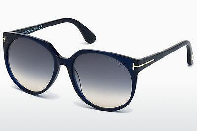 Lunettes de soleil Tom Ford Agatha (FT0370 89W) - Bleues, Turquoise