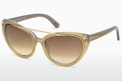Lunettes de soleil Tom Ford Edita (FT0384 34F) - Bronze, Bright, Shiny