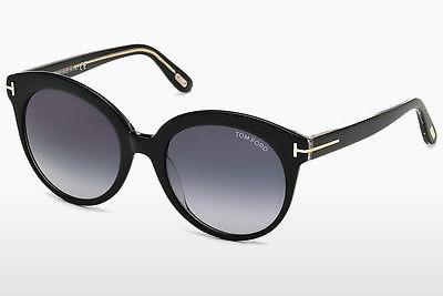 Lunettes de soleil Tom Ford Monica (FT0429 03W) - Noires, Transparent