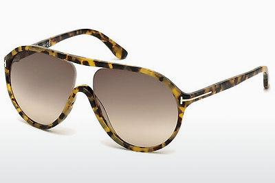 Lunettes de soleil Tom Ford Edison (FT0443 53F) - Havanna, Yellow, Blond, Brown
