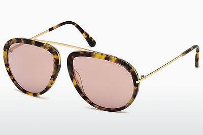 Lunettes de soleil Tom Ford Stacy (FT0452 53Z) - Havanna, Yellow, Blond, Brown