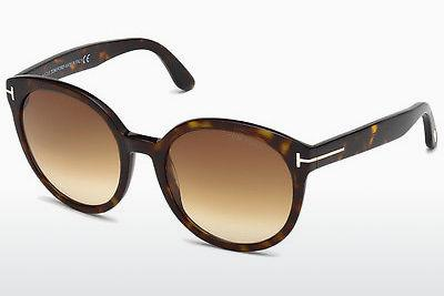Lunettes de soleil Tom Ford Philippa (FT0503 52F) - Brunes, Dark, Havana