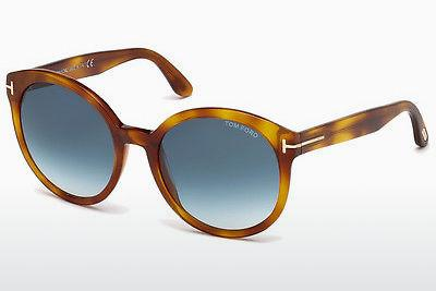 Lunettes de soleil Tom Ford Philippa (FT0503 53W) - Havanna, Yellow, Blond, Brown