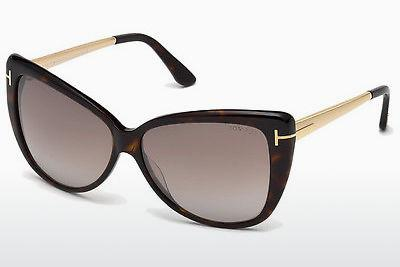 Lunettes de soleil Tom Ford Reveka (FT0512 52G) - Brunes, Dark, Havana