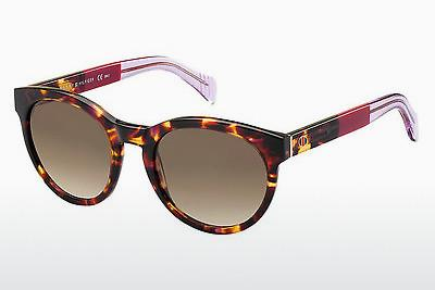 Lunettes de soleil Tommy Hilfiger TH 1291/S G6X/JD - Rouges, Brunes, Havanna