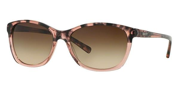 DKNY DY4093 355613 BROWN GRADIENTBROWN HAVANA ON PINK TRANSP