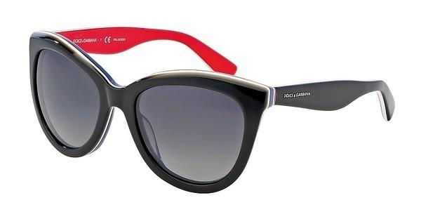 Dolce & Gabbana DG4207 2764T3 POLAR GREY GRADIENTBLACK/MULTILAYER/RED