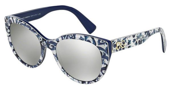 Dolce & Gabbana DG4217 29936G LIGHT GREY MIRROR SILVERMAIOLICHE PARTENOPEE/BLUE