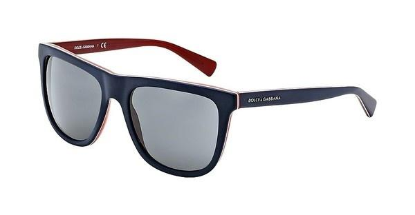 Dolce & Gabbana DG4229 187287 GREYTOP BLUE ON MATTE RED