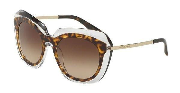 Dolce & Gabbana DG4282 757/13 BROWN GRADIENTHAVANA ON TRANSPARENT