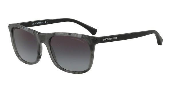 Emporio Armani EA4056 55518G GREY GRADIENTMATTE STRIPED GREY