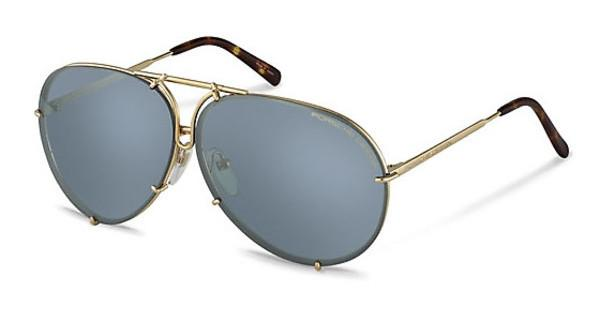 Porsche Design P8613 B brown + light blue, silver mirroredgold