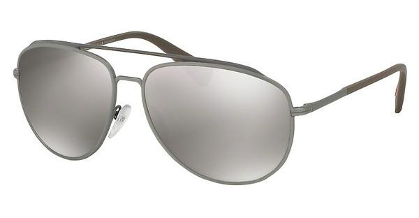 Prada Sport PS 55RS DG15K0 DARK BROWN MIRROR SILVER POLARBROWN/LEAD RUBBER
